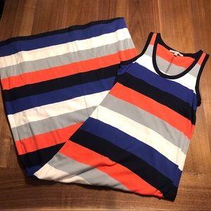 Gap multicolor striped tank top maxi dress
